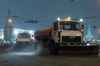 Москву занесло снегом