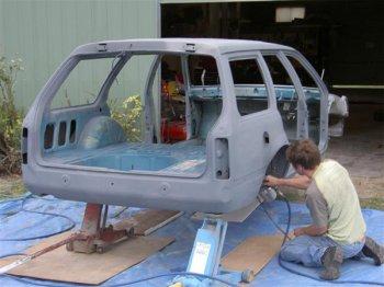 Использования пескоструйного оборудования при покраске автомобиля