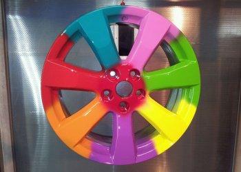 Как происходит порошковая покраска автомобильных дисков